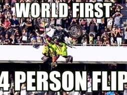 4 na jedné motorce a salto vzad? Proč ne!
