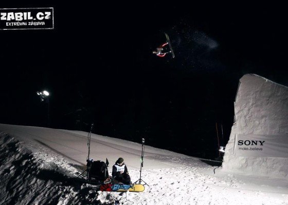 Honza Kaňůrek, switch double backflip - Snowboardfest 2013