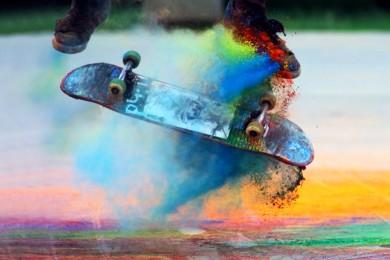Skateboarding v barvách