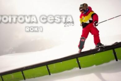 Vojta Břeský (13 let) a jeho freeski sezónička