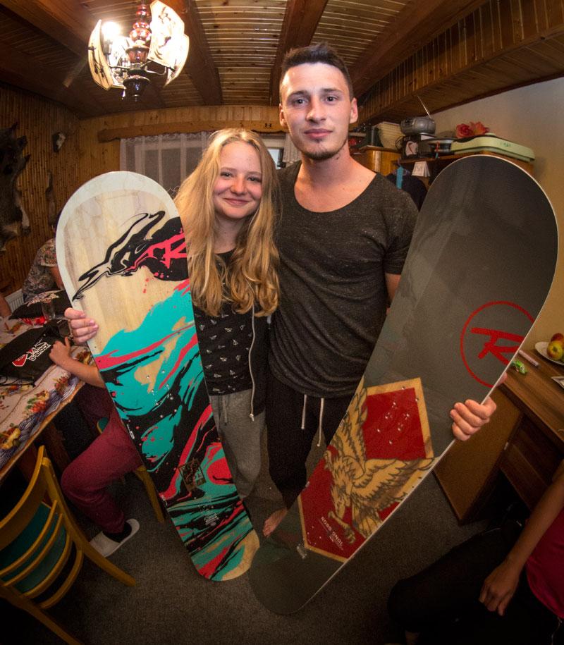 Nejlepší snowboardisti - Eliška a Mára