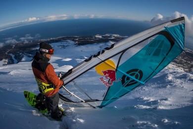 Windsurfing na sněhu